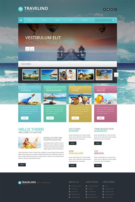 Travel Agency Responsive Wordpress Theme 51349 Web Theme Templates