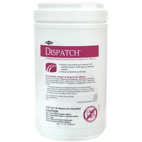 dispatch hospital cleaner disinfectant towels  bleach clorox clhdispatch hospital