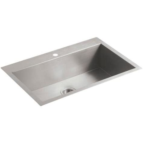 kohler vault top mount undermount stainless steel 33 in 1