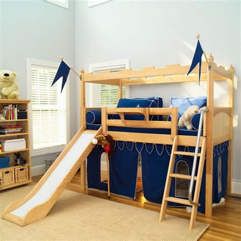 bunk bed with slide and tent camelot tent loft with slide warmojo com