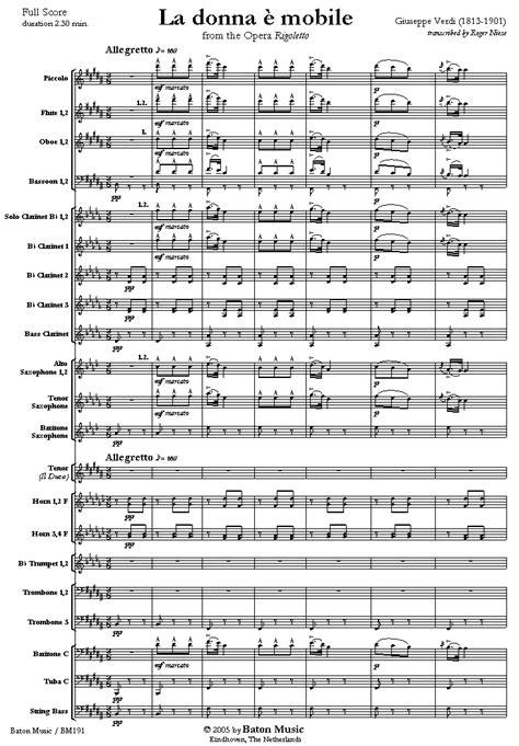 musicainfo net dettagli la donna 232 mobile from the opera
