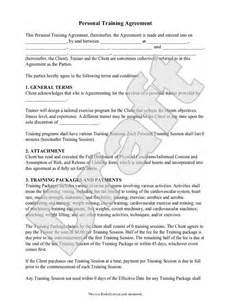 personal agreement contract template 1000 ideas about personal trainer on