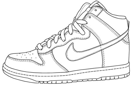 printable coloring pages nike shoes free how to draw shoes coloring pages