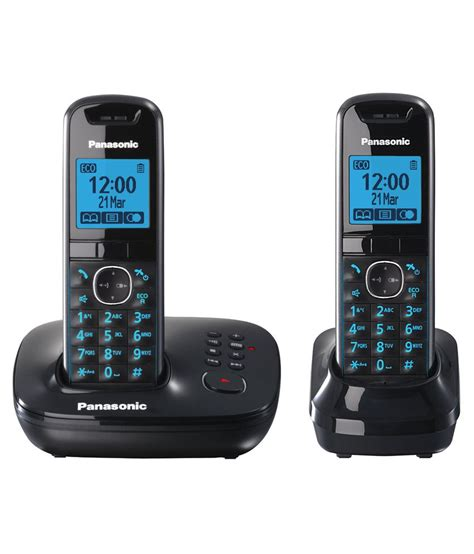 buy panasonic kx tg5522eb cordless landline phone black