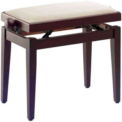 stagg piano bench stagg pb40 piano bench rosewood beige velvet top keymusic