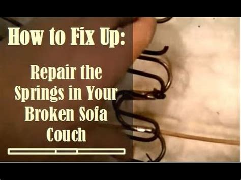 how to fix a couch fix broken sofa springs learn how to diagnose and fix