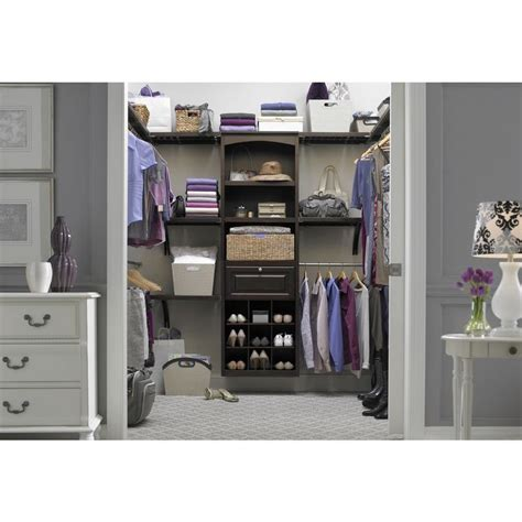 Lowes Closet Systems Allen Roth by Shop Allen Roth Java Wood Drawer Unit At Lowes