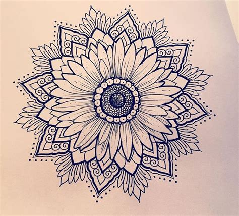 sunflower mandala tattoo meaning 1000 images about tatuagens on pinterest sunflower