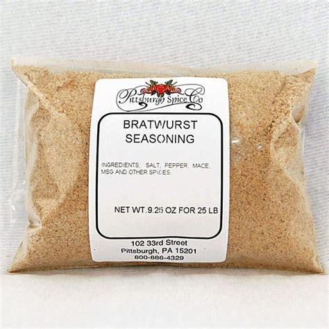 Bratwurst Seasoning 9 25oz