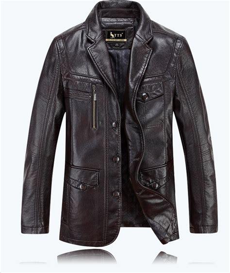 Luxurius Jacket autumn luxury casual leather jacket mens clothing sheepskin leather jackets coat