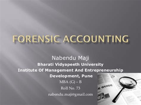 Mba Forensic Accounting Degree by Forensic Accounting
