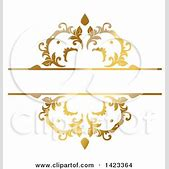 Gold Fancy Line Designs
