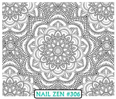 mandala tattoo ebay nail zen 306 mandala colouring in water transfer decal