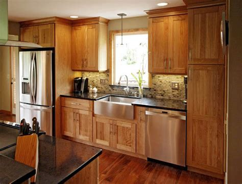 Backsplash Tile Designs For Kitchens by Natural Red Birch Contemporary Kitchen Burlington