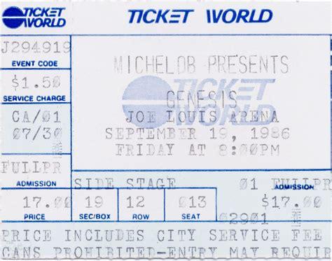 genesis tickets genesis ticket joe louis arena detroit 19th