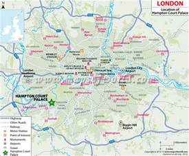 Make Room Planner where is hampton court palace in london location map of