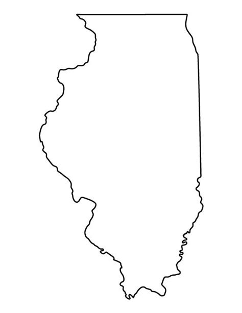 coloring page map of illinois illinois pattern use the printable outline for crafts