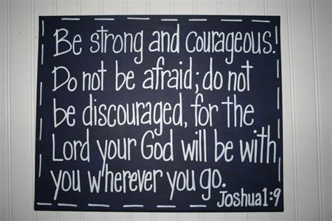 be strong and courageous joshua 1 9 navy christian items similar to be strong and courageous navy blue