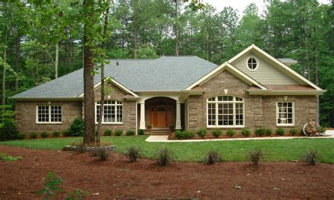 brick home ranch style house plans 1 story ranch style