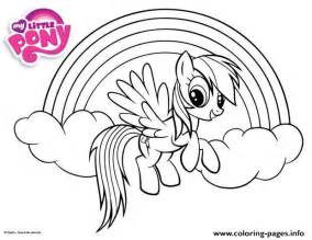 rainbow dash little pony coloring pages printable