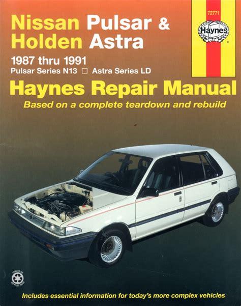 motor repair manual 1991 nissan 300zx user handbook nissan pulsar n13 holden astra ld 1987 1991 haynes service repair manual sagin workshop car