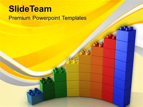 0313 Growth Of Business With Lego Blocks Powerpoint Templates Ppt Themes And Graphics Lego Powerpoint Template