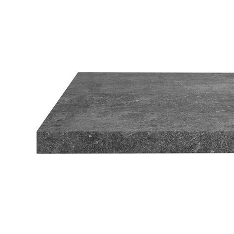 Plan De Travail Gris Beton 4031 by Plan Snack Stratifi 233 Effet B 233 Ton Gris Mat L 200 X P 40 Cm