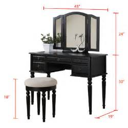 Vanity Bedroom Set New Vanity Set Table Chair Tri Folding Mirrors Bedroom