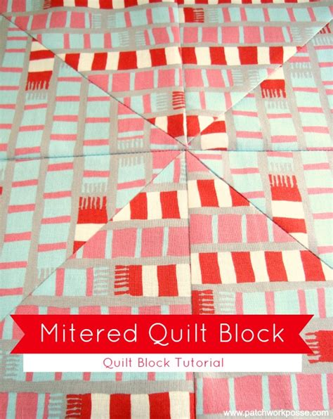 How Do I Miter A Corner In Quilting by Mitered Corner Quilt Block Tutorial With Striped Fabric