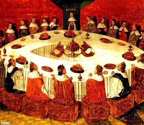 image de la table ronde chevaliers table ronde