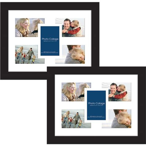 collage sets page2 collage photo frames 12x16 black set of 2 walmart