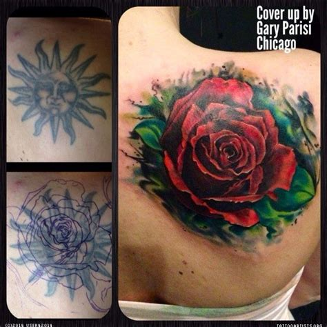 rose tattoo cover up ideas big cover up ideas