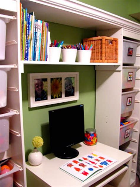 living spaces kids desk living room storage spaces for the kids toys interior