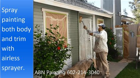 how to spray paint a house exterior painting the exterior of a house with spray gun
