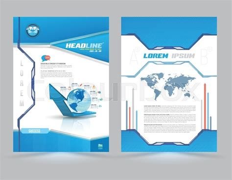 blue booklet cover design many shades of blue on first page design
