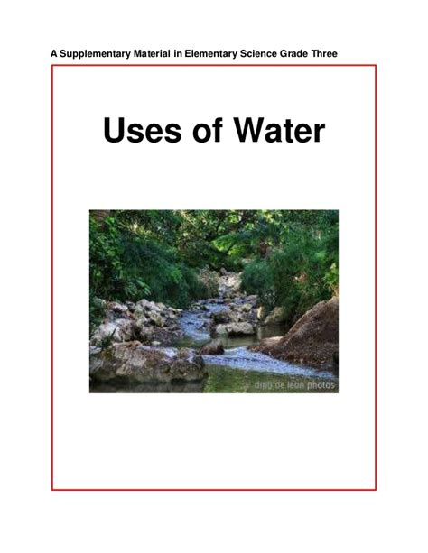 uses of uses of water copy