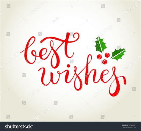 with best wishes best wishes text leaves stock vector