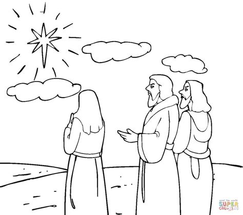 Galerry coloring page star of bethlehem