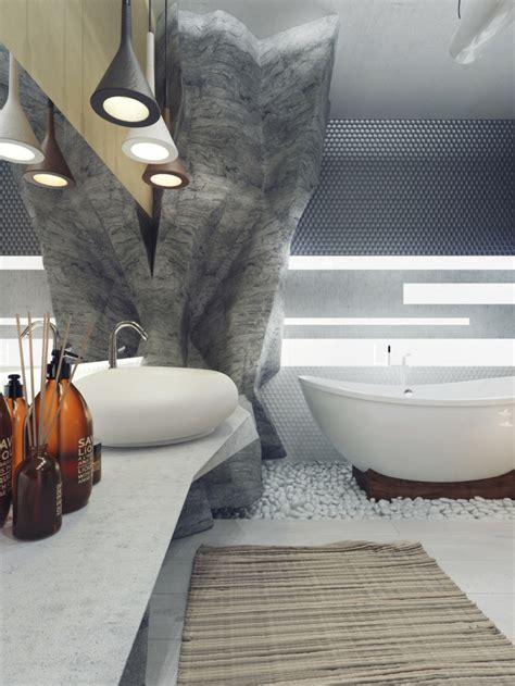 felsen im badezimmer waschbecken luxus badezimmer 6 originelle design ideen im detail