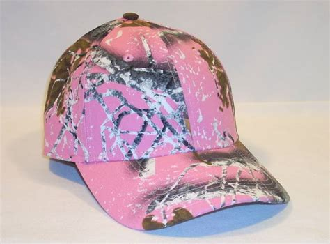 pink camo hat outdoor cap dna camo camouflage pink baseball hat