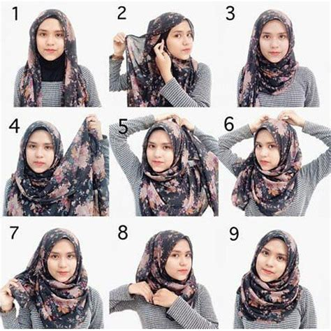 tutorial hijab segi empat rumbai tutorial hijab segi empat simple hijab tutorial pinterest
