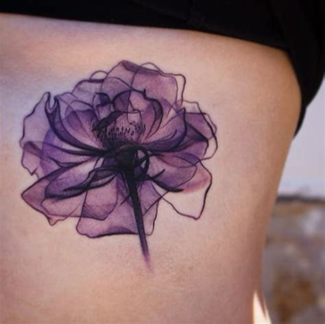 purple tattoo 35 x ray flower tattoos that will take your breath away