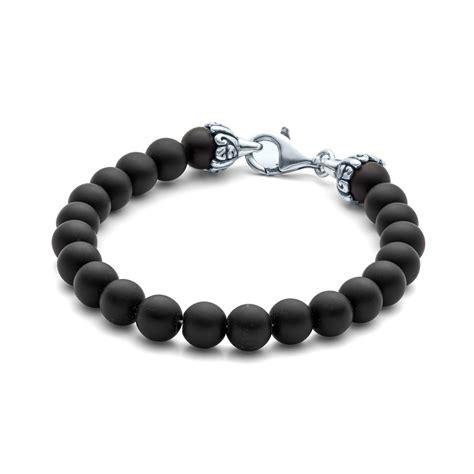 black onyx bead bracelet elements gemstone bead bracelet 8mm matte black onyx