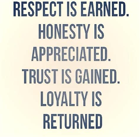 respect is earned quotes quotesgram