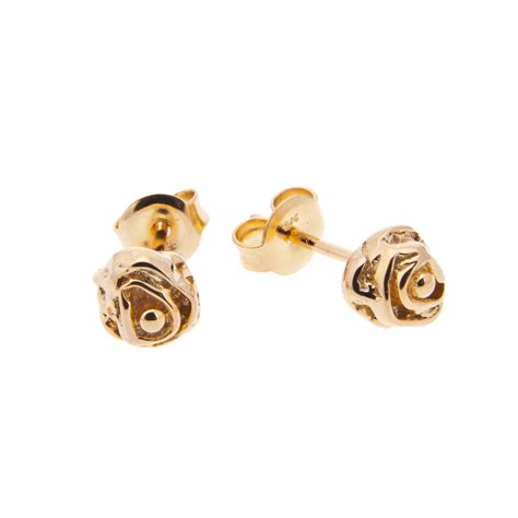 Gold Stud Earrings delicate gold stud earrings by black