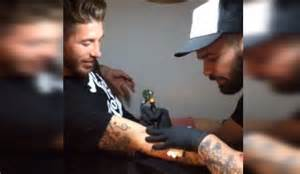 real madrid defender sergio ramos shows off michael