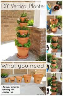 Vertical Herb Garden Diy Diy Vertical Planter Home Design Garden Architecture