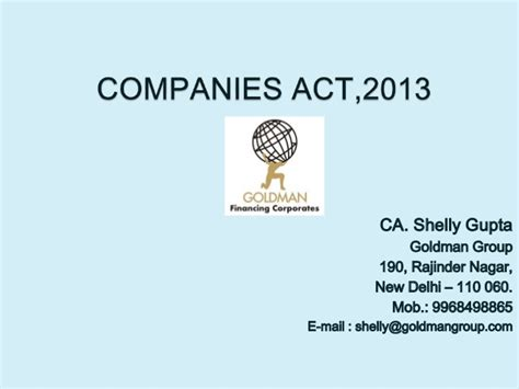 Section 76 Of The Companies Act by Companies Act 2013 By Goldman