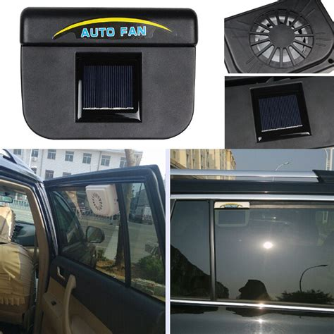 solar powered vehicle fan black auto solar powered car vent window fan for vehicle