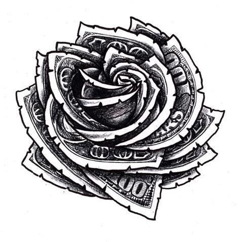 hundred dollar bill rose tattoo designs hundred dollar bill floral design tattoos
